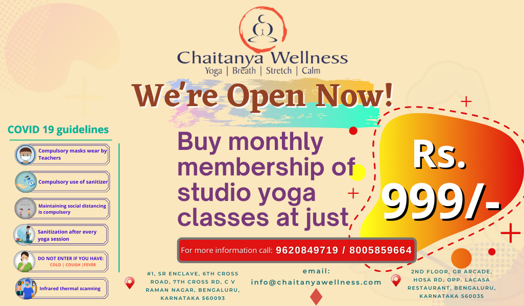 Yoga Studio Opening offer